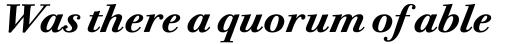 ITC Bodoni Twelve Bold Italic sample