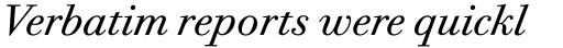 ITC Bodoni Twelve Book Italic sample
