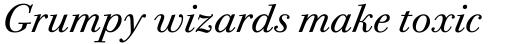 ITC Bodoni Twelve Book Italic OS sample