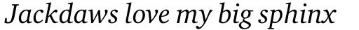 ITC Charter Italic sample