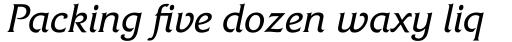 Friz Quadrata Italic sample