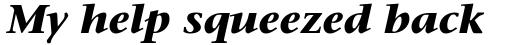 ITC Stone Serif Com Bold Italic sample