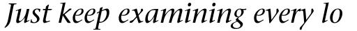 ITC Stone Serif Com Medium Italic sample