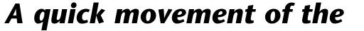 ITC Stone Sans Com Bold Italic sample