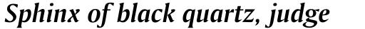 Amerigo BT Bold Italic sample
