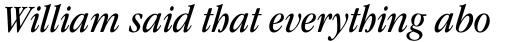 ITC Garamond Std Book Narrow Italic sample