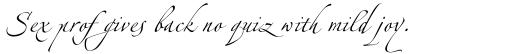 Linotype Zapfino Three sample