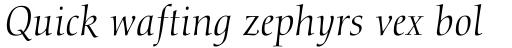 Calligraphic 810 Italic sample