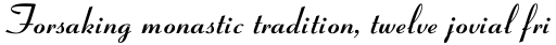 Coronet MT Bold sample
