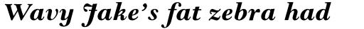 Goudy Modern MT Bold Italic sample