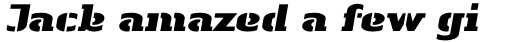 Linotype Authentic Stencil Std Black Italic sample