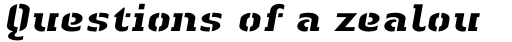 Linotype Authentic Stencil Pro Heay Italic sample