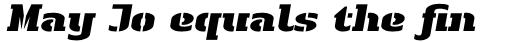 Linotype Authentic Stencil Pro Black Italic sample