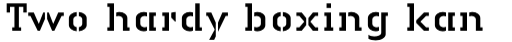 Linotype Authentic Stencil Std Regular sample