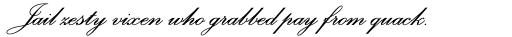 Palace Script SemiBold sample