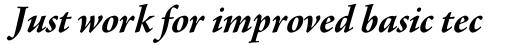 Agmena Paneuropean Bold Italic sample