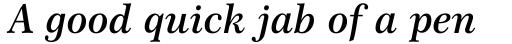 Century 751 SemiBold Italic sample