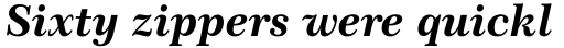 Century 751 No 2 Bold Italic sample
