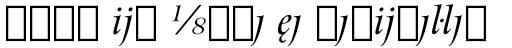 Arrus BT Italic Extension sample