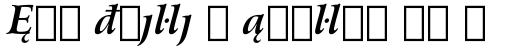 Arrus BT Bold Italic Extension sample