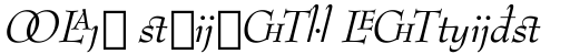 Bernhard Modern Italic Extension sample