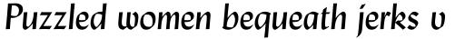 Lydian Italic sample