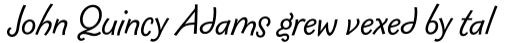 FF Fontesque Sans Std Regular Italic sample