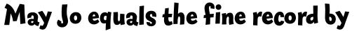 FF Fontesque Sans Std Extra Bold sample