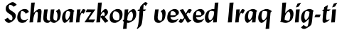 Lydian Bold Italic sample