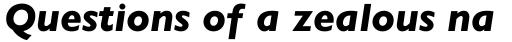 Gill Sans Heavy Italic OsF sample