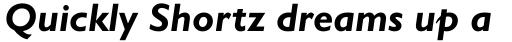 Gill Sans Bold Italic OsF sample