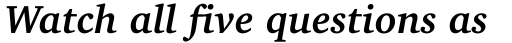 Charter OSF Bold Italic sample