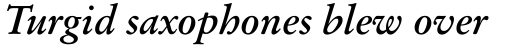 Original Garamond Bold Italic sample