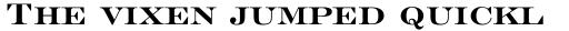 Engravers' Roman BT Std Bold sample