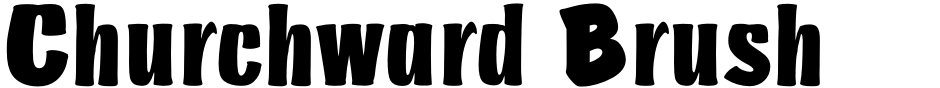 Click to view Churchward Brush font, character set and sample text