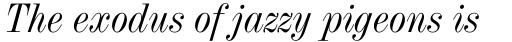 Industrial 736 Italic sample