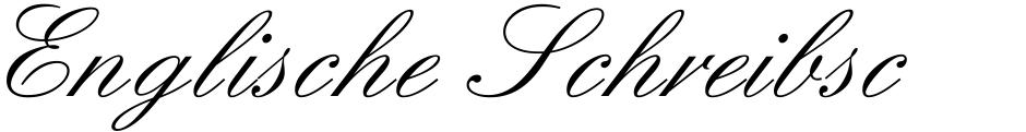 Click to view Englische Schreibschrift font, character set and sample text