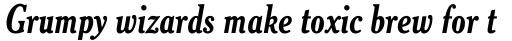 Cheltenham Bold Condensed Italic sample