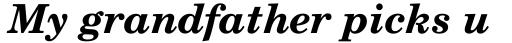 Century Schoolbook Bold Italic sample