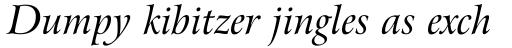 Arrus BT Italic sample