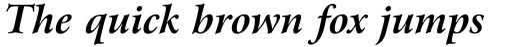 Arrus BT Bold Italic sample