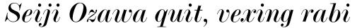 Modern No. 20 Italic sample