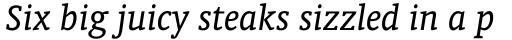 Oranda Italic sample
