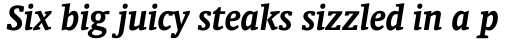 Oranda Bold Italic sample