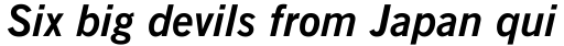 News Gothic Bold Italic sample