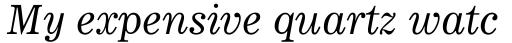 News 705 Italic sample
