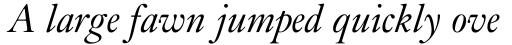 Kis Italic sample