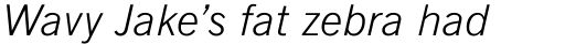 News Gothic Light Italic sample