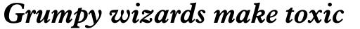 Aldine 721 Bold Italic sample