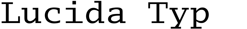 Click to view Lucida Typewriter EF font, character set and sample text